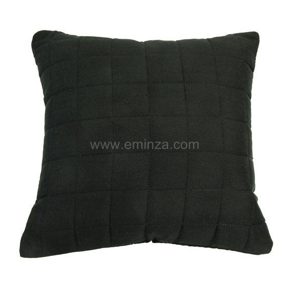 housse de coussin boutis 40 cm venus noir coussin et housse de coussin eminza. Black Bedroom Furniture Sets. Home Design Ideas