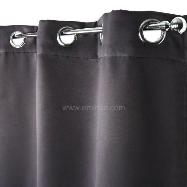 rideau obscurcissant isolant 140 x h260 cm gris rideau isolant eminza. Black Bedroom Furniture Sets. Home Design Ideas