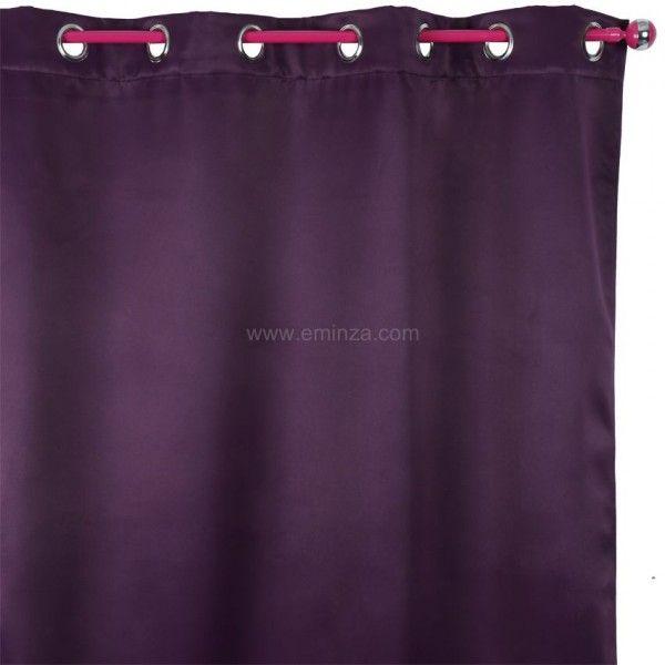 rideau obscurcissant isolant 140 x h260 cm prune rideau isolant eminza. Black Bedroom Furniture Sets. Home Design Ideas