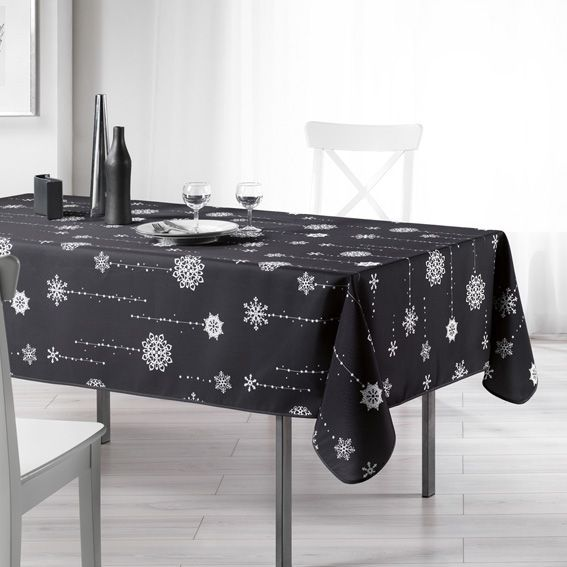nappe rectangulaire l240 cm etoil e anthracite. Black Bedroom Furniture Sets. Home Design Ideas