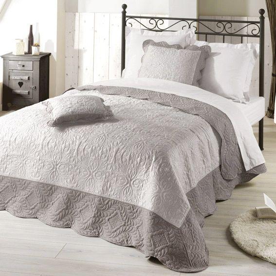 housse de coussin boutis 60 cm edana taupe d co textile eminza. Black Bedroom Furniture Sets. Home Design Ideas
