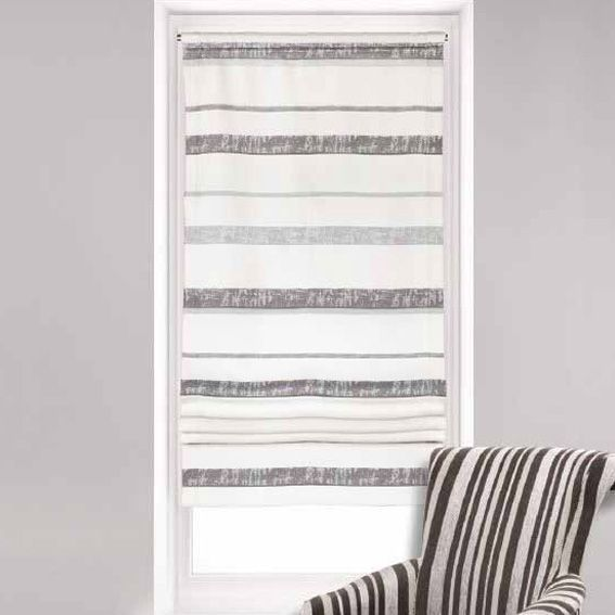 store voilage bateau 60 cm horizon gris eminza. Black Bedroom Furniture Sets. Home Design Ideas