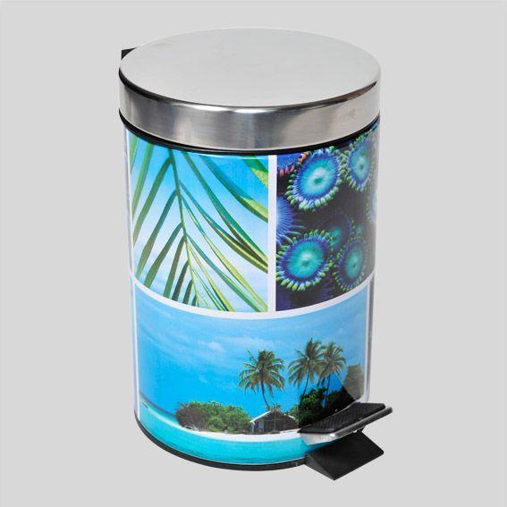 poubelle p dale paradis bleu accessoire salle de bain. Black Bedroom Furniture Sets. Home Design Ideas