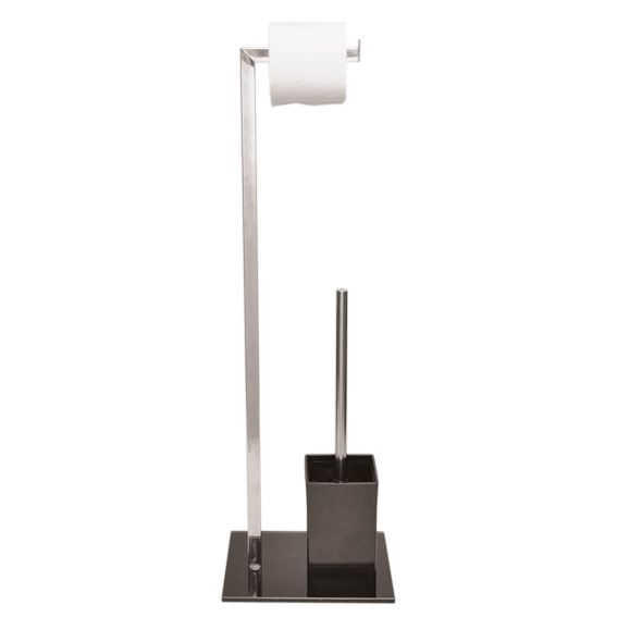 Porte Papier Toilette Design : porte papier et brosse de toilettes design noir ~ Pogadajmy.info Styles, Décorations et Voitures