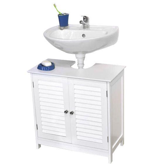 meuble dessous lavabo florence blanc meuble de salle de. Black Bedroom Furniture Sets. Home Design Ideas
