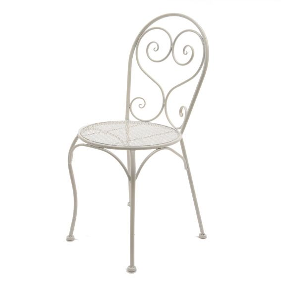 Chaise Lucy style fer forgé Blanc