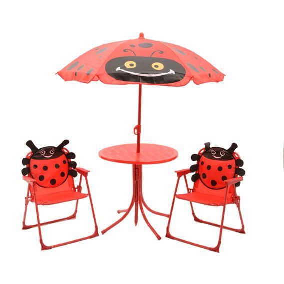 salon de jardin pour enfant coccinelle rouge mobilier pour enfant eminza. Black Bedroom Furniture Sets. Home Design Ideas