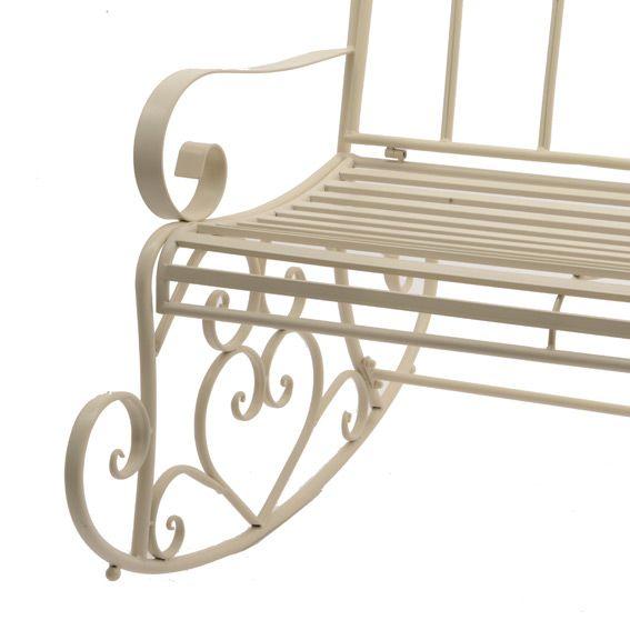 balancelle marylin style fer forg ecru banc de jardin. Black Bedroom Furniture Sets. Home Design Ideas