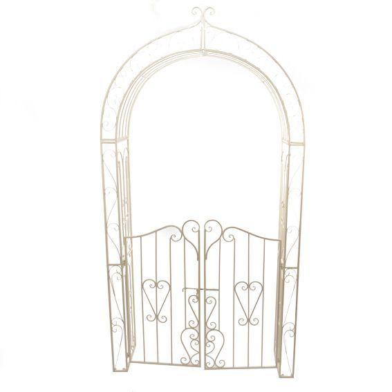 Arco da giardino in stile ferro battuto ecru mobili d for Arredo da giardino in ferro