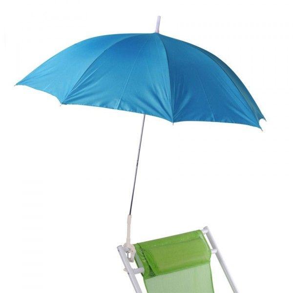 parasol de plage clipsable bleu parasol voile et paravent eminza. Black Bedroom Furniture Sets. Home Design Ideas