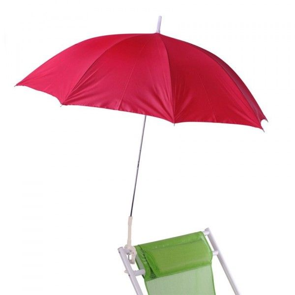 Parasol de Plage Clipsable - Rouge