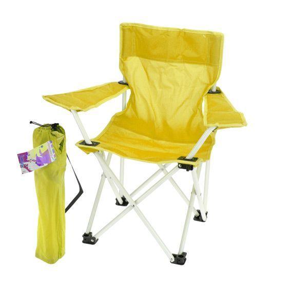 fauteuil de camping pour enfant jaune mobilier pour enfant eminza. Black Bedroom Furniture Sets. Home Design Ideas