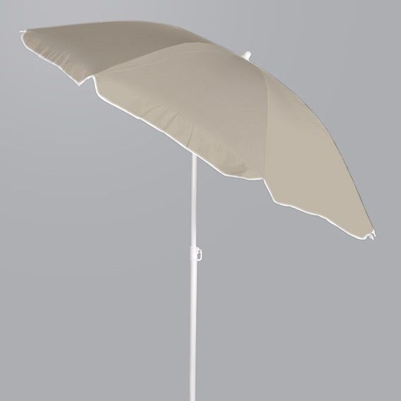 Parasol de Plage Inclinable Traditionnel Taupe