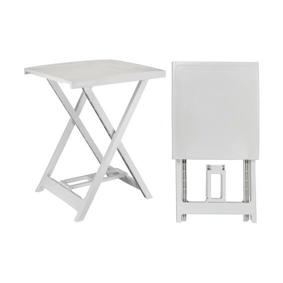 Table Arno PVC (50 x H64 cm) Blanc