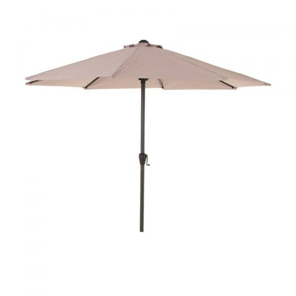 Parasol inclinable rond Fidji (D300 cm) - Taupe