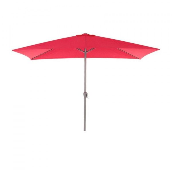 Parasol inclinable rectangulaire Fidji (3 x 2 m) - Framboise