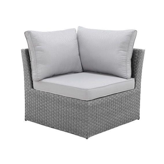 fauteuil d 39 angle de jardin s villa gris gris clair salon de jardin table et chaise eminza. Black Bedroom Furniture Sets. Home Design Ideas