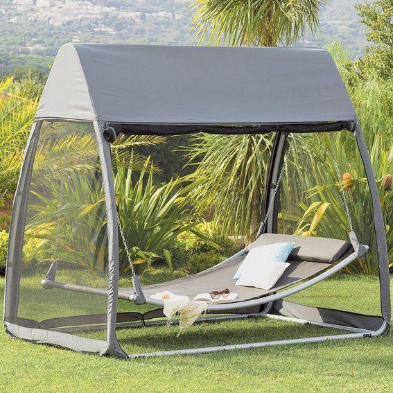toile de balancelle trinidad gris balancelle eminza. Black Bedroom Furniture Sets. Home Design Ideas