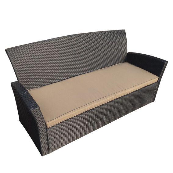 coussin de canap 3 places ibiza taupe textile d 39 ext rieur eminza. Black Bedroom Furniture Sets. Home Design Ideas
