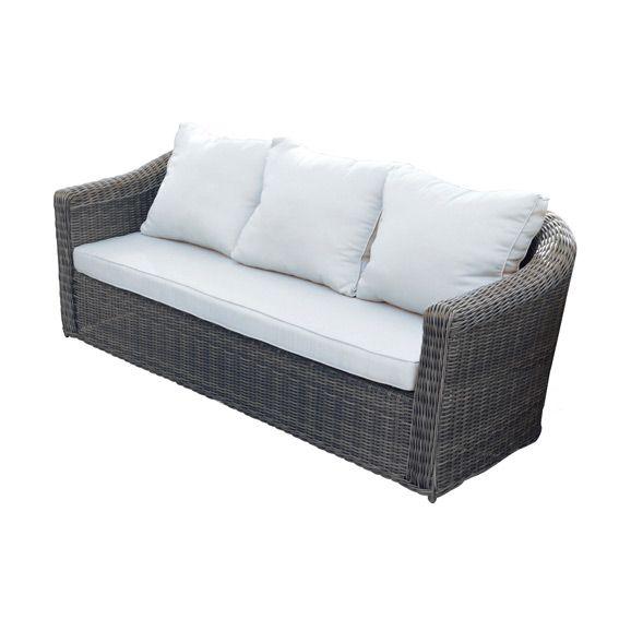 canap de jardin 3 places capri sepia ecru salon composer eminza. Black Bedroom Furniture Sets. Home Design Ideas