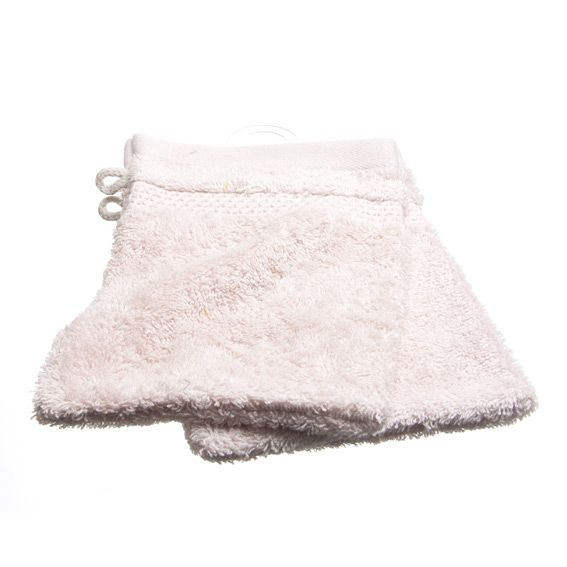 Lot de 2 gants de toilette Vita Rose pâle