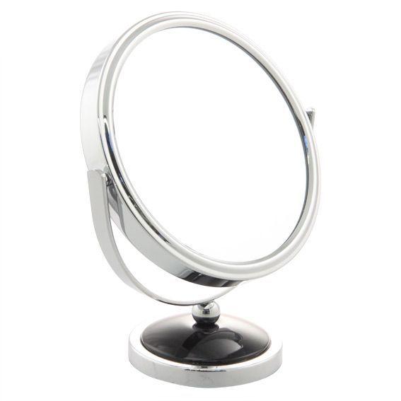 Miroir grossissant noir accessoire salle de bain eminza - Accessoire salle de bain noir ...