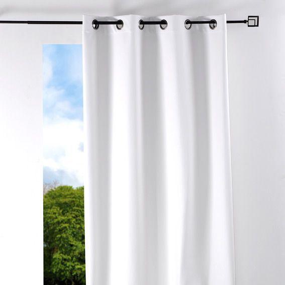 Rideau (135 x H250 cm) Ecocuir �il Blanc