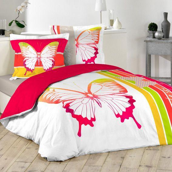 linge de lit rouge eminza. Black Bedroom Furniture Sets. Home Design Ideas