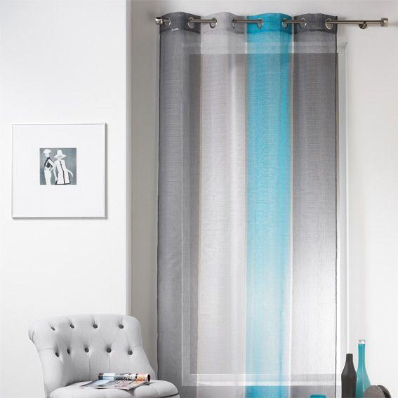rideau et voilage style bord de mer eminza. Black Bedroom Furniture Sets. Home Design Ideas