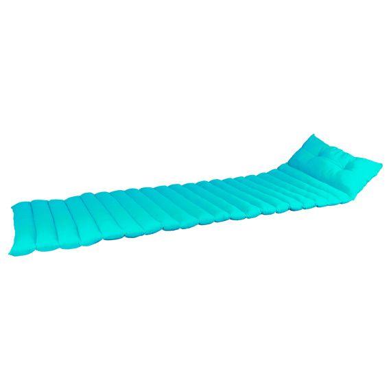 coussin de transat pacifique turquoise textile d 39 ext rieur eminza. Black Bedroom Furniture Sets. Home Design Ideas