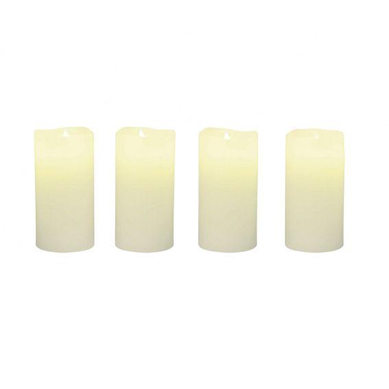 lot de 12 bougies led blanc chaud eminza. Black Bedroom Furniture Sets. Home Design Ideas