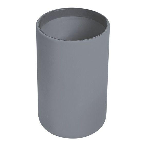 Gobelet velours gris accessoire salle de bain eminza - Accessoire salle de bain gris ...