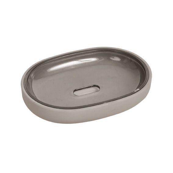 Porte savon velours taupe porte savon eminza for Porte savon salle de bain