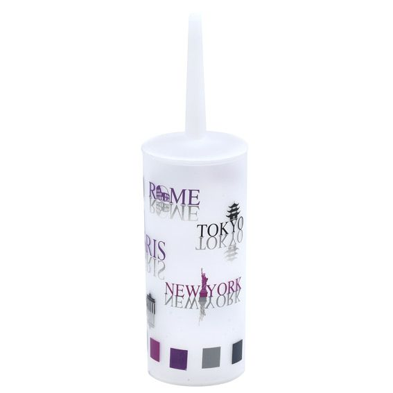 brosse wc ecritures violet accessoire wc eminza. Black Bedroom Furniture Sets. Home Design Ideas