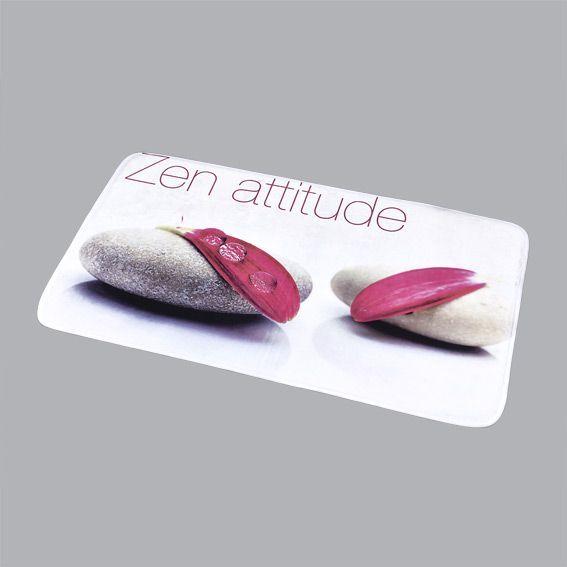 tapis de bain zen attitude l90 cm prune tapis salle de bain eminza. Black Bedroom Furniture Sets. Home Design Ideas