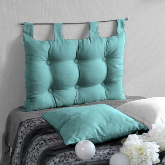 T�te de lit (63 cm) Capiton Turquoise
