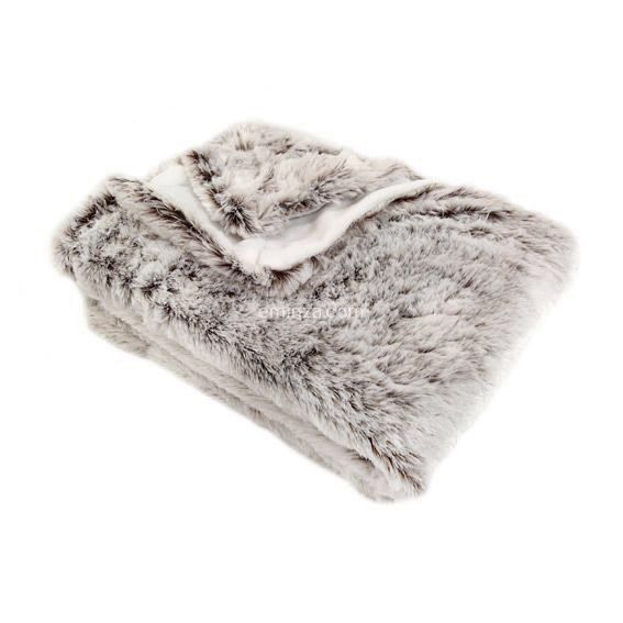 Plaid fausse fourrure (150 cm) Ours Taupe