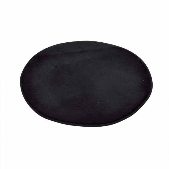 Tapis de bain vita rond noir eminza - Tapis salle de bain noir ...