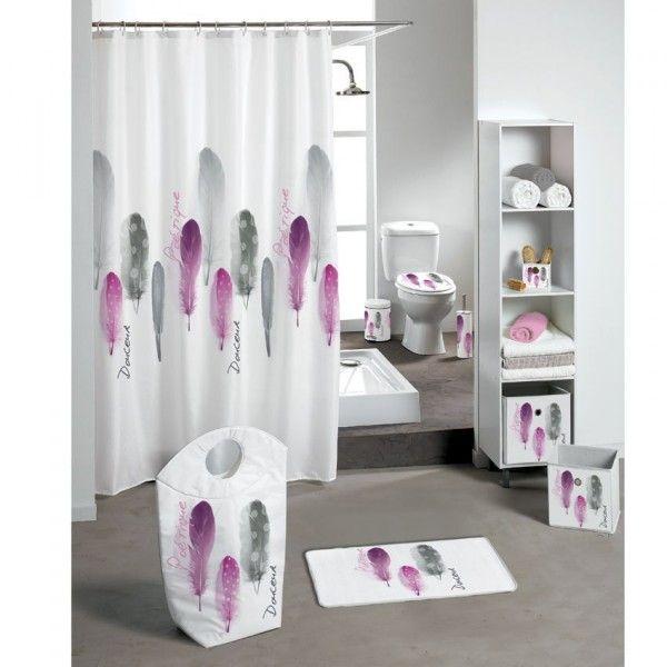 Poubelle p dale po tique rose accessoire salle de bain eminza - Poubelle salle de bain rose ...