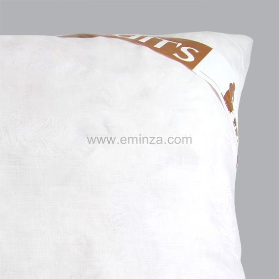 oreiller rectangulaire plume blanc linge de lit eminza. Black Bedroom Furniture Sets. Home Design Ideas