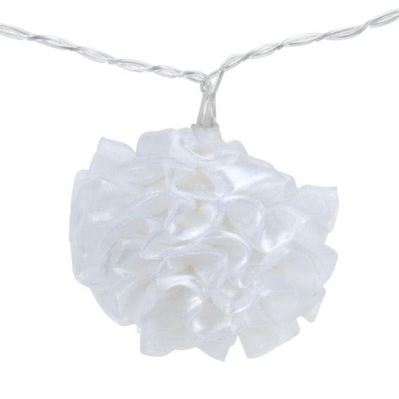 Guirlande lumineuse boule de fleurs blanc chaud 10 led guirlande lumineuse eminza - Guirlande lumineuse led a piles 10 ampoules ...