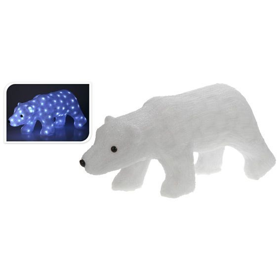 Ours lumineux du grand Nord Blanc froid 80 LED