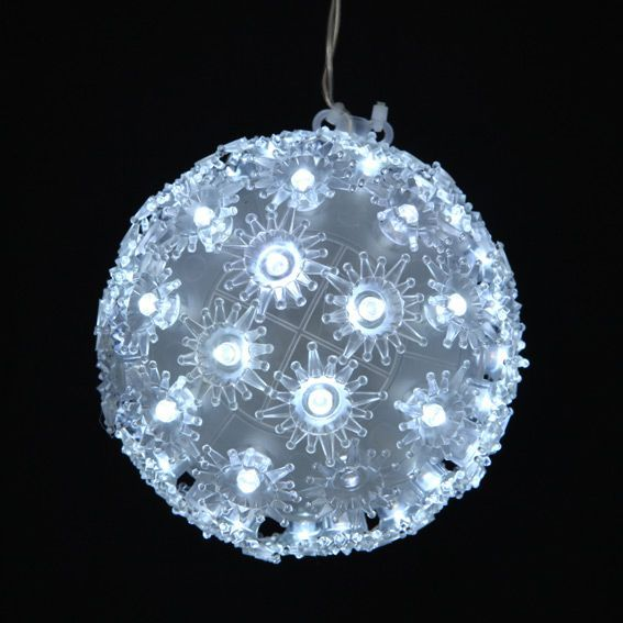 Boule lumineuse � suspendre 100 LED Blanc froid