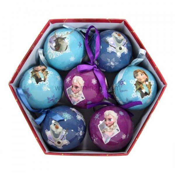 Lot de 7 boules de No�l Reine des neiges