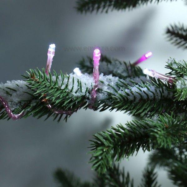 Guirlande lumineuse 64 LED Color 5 m Rose et blanc froid