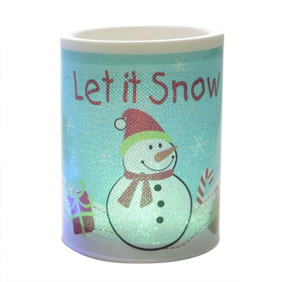 Photophore LED Let it Snow Charly Multicouleur