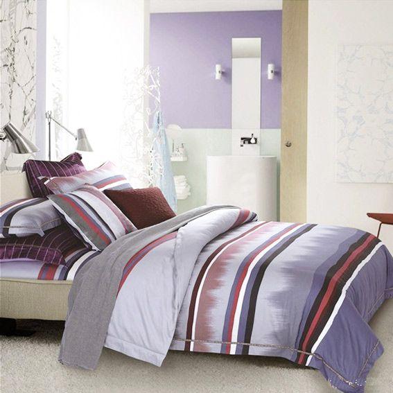 Linge de lit violet eminza - Une housse de couette ...