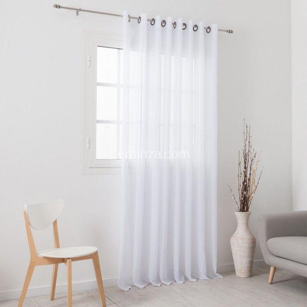 gardine 300 x 240 cm morgentau wei gardinen vorh nge rollos eminza. Black Bedroom Furniture Sets. Home Design Ideas