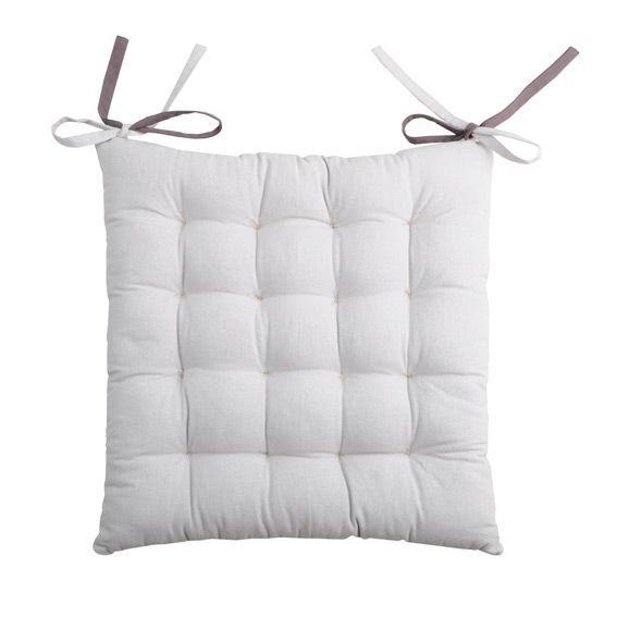 coussin de chaise bicolore gris et gris perle galette et coussin de chaise eminza. Black Bedroom Furniture Sets. Home Design Ideas