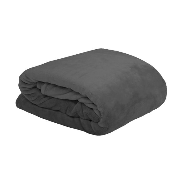 Plaid douceur (240 cm) Doudou Anthracite
